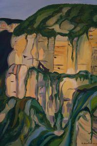 Cliff at Govett's Leap (detail)