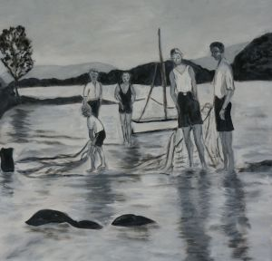 Prawning at the mid-tide